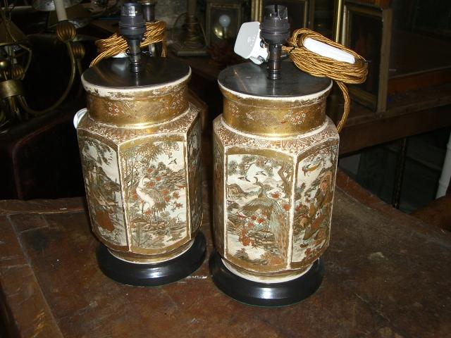 Japanese Satsuma Lamps